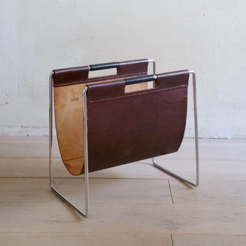 Brabantia Leather Magazine Holder, 1960s | #79522