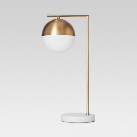 Geneva Glass Globe with Marble Base Task Lamp Brass - Project 62™ : Target