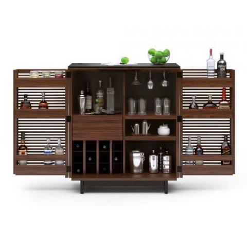 Amazon.com: BDI Corridor Compact Bar (Chocolate Stained Walnut): Furniture & Decor