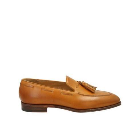 Duccio Cognac - Loafer in cognac suede leather   | Scarosso