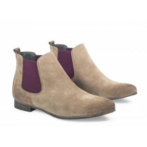 Boots/Bottines en CUIR Beige - Boots Tribu - Andre