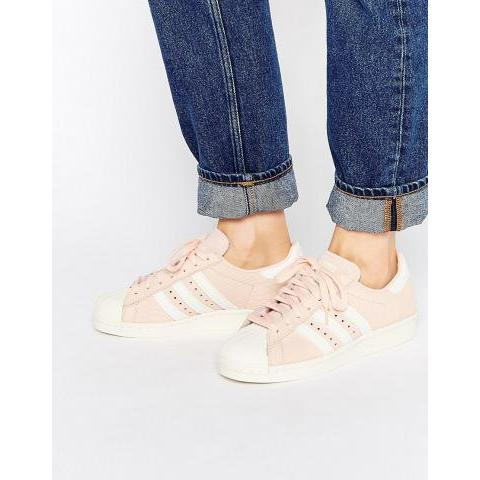 Rose | adidas Originals - Superstar - Baskets 80's - Pêche chez ASOS