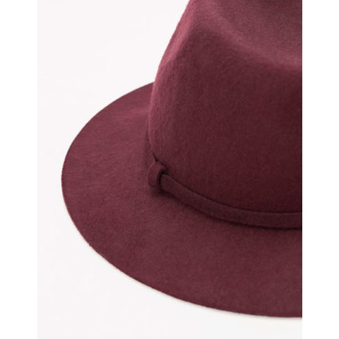 Fedora à bord court - New - Bershka France