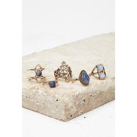 Faux Stone Ring Set - Shop All - 1000164696 - Forever 21 EU English