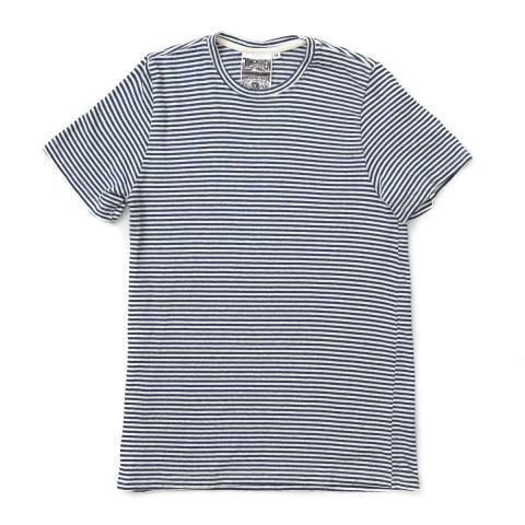 Jungmaven Yarn Dyed Stripe Tee Navy