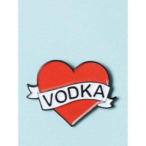 Love Vodka Enamel Pin - Accessories at Gypsy Warrior