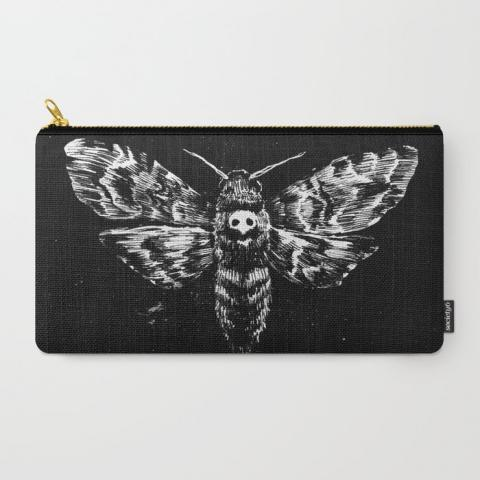 Deaths Head Carry-All Pouch by tastybones | Society6