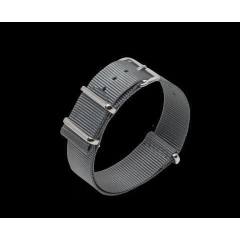 Nato Watch strap in Grey with Silver Hardware – Compendium Design Store