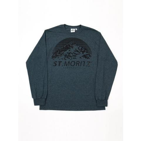 St. Moritz SuperSoft - Classic Logo Long Sleeve T-Shirt - Grey – The Northern Fells Clothing Company