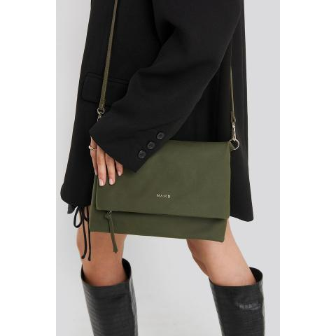 Faux Suede Flap Over Bag Vert | na-kd.com