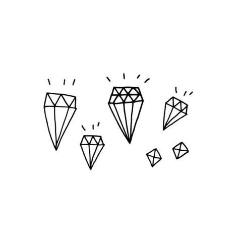 Tattly™ Designy Temporary Tattoos — Diamonds
