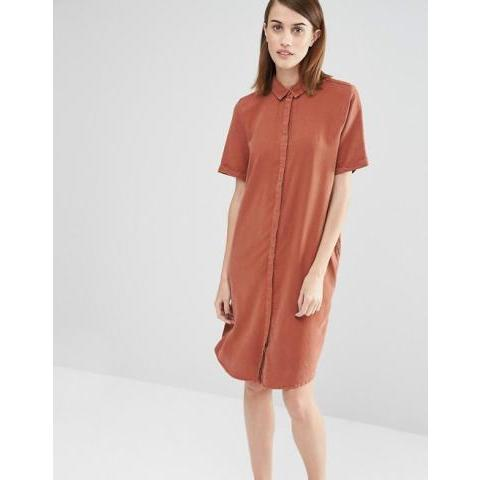 Selected | Selected - Vilo - Robe chemise à manches courtes