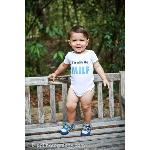 I'm With The Milf Super Funny Baby Onesie or par ShopTheIttyBitty
