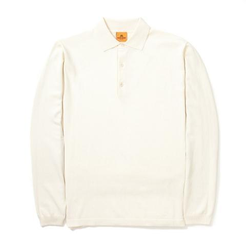Andersen Andersen Long Sleeve Polo Shirt White