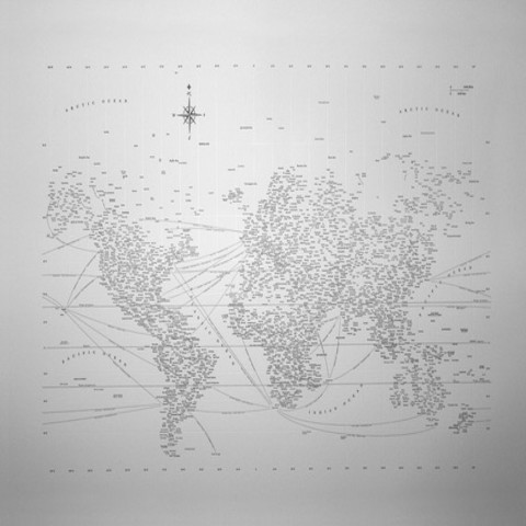 Typographic World Map by designahoy on Etsy
