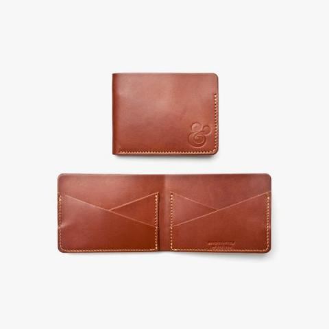 CROSS POCKET WALLET (BROWN LEATHER) | Ugmonk