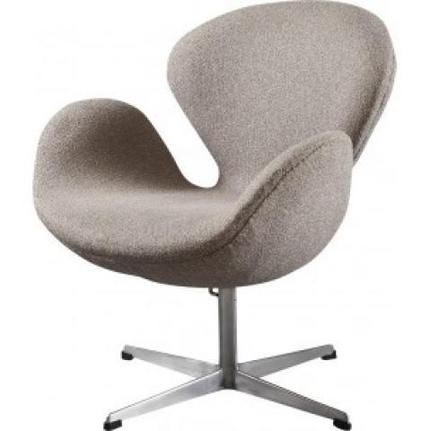 Swan chair in fabric aluminum, Arne JACOBSEN - 1960s - Design Market