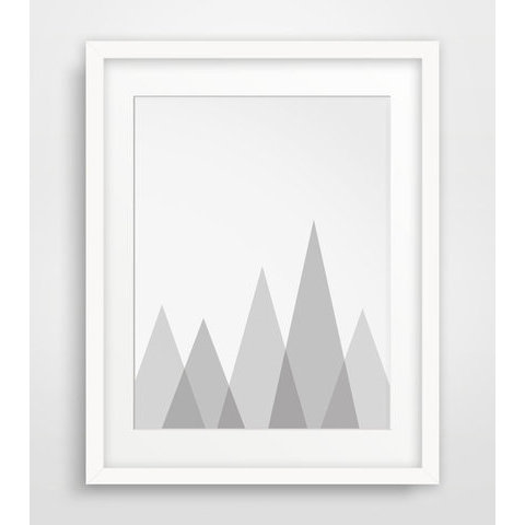 Mountain Wall Art Grey Wall Prints Mountain par MelindaWoodDesigns