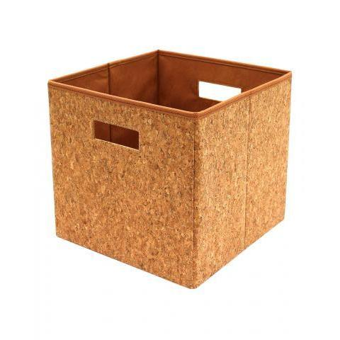 Square Cork Foldable Storage Box Medium | J D Williams
