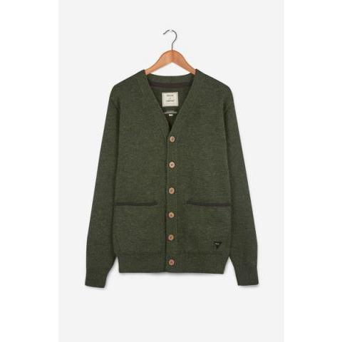 Chunky Duxford Wool Cardigan (Green)