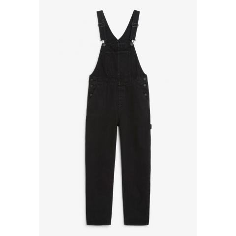 Denim dungarees - Black magic - Jumpsuits - Monki FR