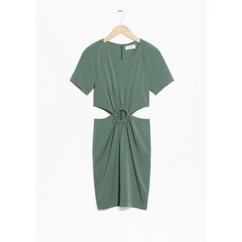 Cutout Buckle Dress - Green  - & Other Stories