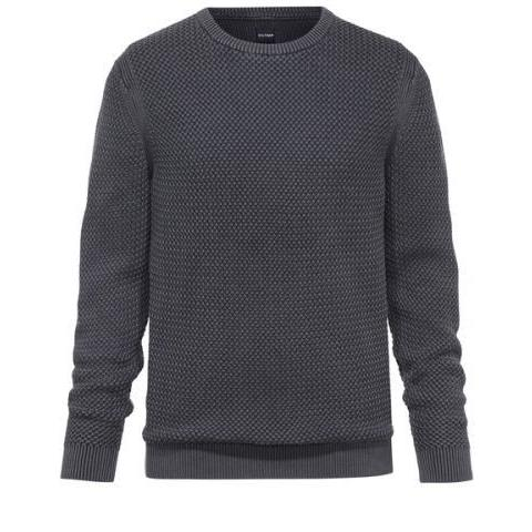 OLYMP Maille moderne et actuelle Pullover col rond Anthracite  -  53006567