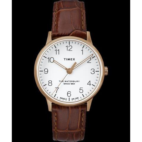 Waterbury 36mm Classic Leather Strap Watch | Timex
