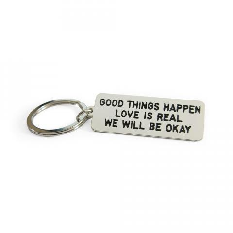 GOOD THINGS HAPPEN Keychain | ADAMJK GIFT SHOP