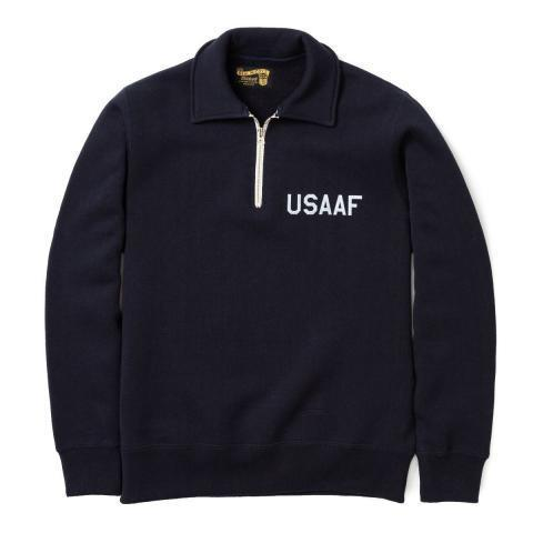 The Real McCoy's USAAF 1/4 Zip Sweatshirt