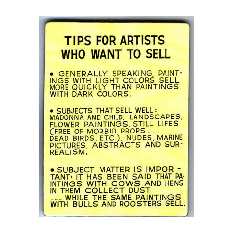 LACMA Shop - Baldessari Magnet: Tips for Artists