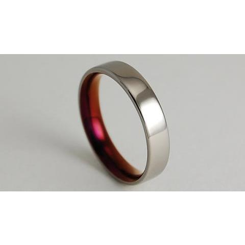 Titanium Ring The Aphrodite Band in Purple Wine by RomasBanaitis