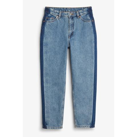 Taiki jeans color blocking - Blue - Monki