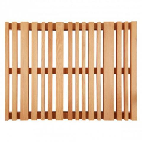 WOOD Natural slatted beech bath mat L60 x W45cm | Buy now at Habitat UK