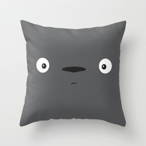 Totoro Throw Pillow by Johan Ruda | Society6