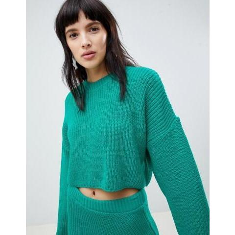 ASOS DESIGN | ASOS DESIGN co-ord cropped oversized jumper in rib