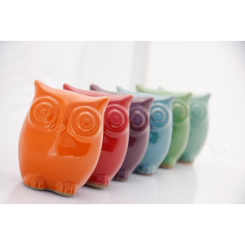 ceramic Owl decor   choose your color by claylicious on Etsy