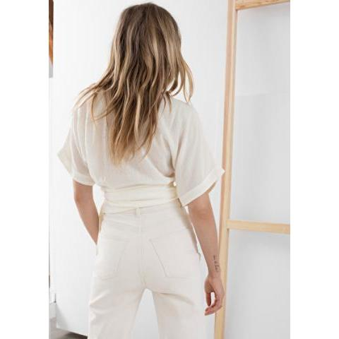 Lyocell Wrap Top - White - Blouses - & Other Stories